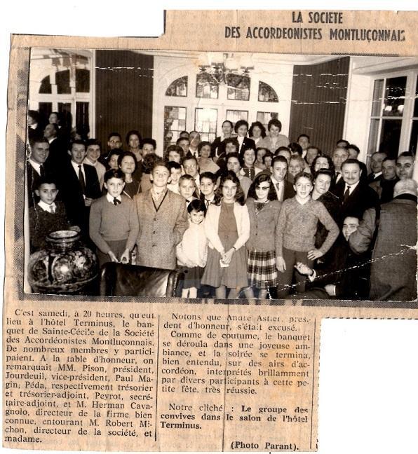 Banquet SAM 10 décembre 1960