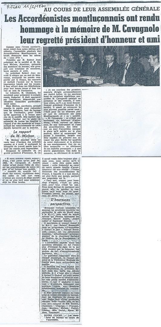 Hommage a cavagnolo le 11 2 1970 b
